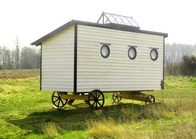 Art studio shepherd hut