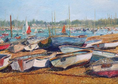 Boats at Itchenor Chichester harbour