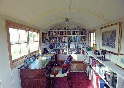 Library shepherd hut