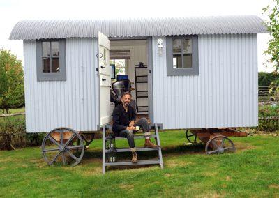 Office Shepherd hut Roundhill 2