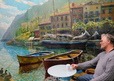 Paul's mural of Lake Garda