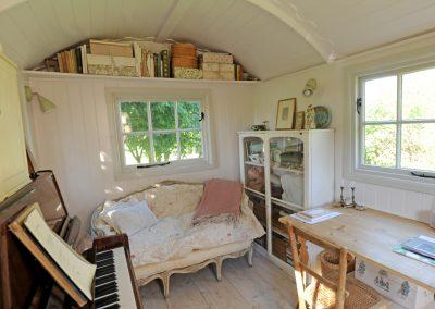 Piano room shepherd hut 2a