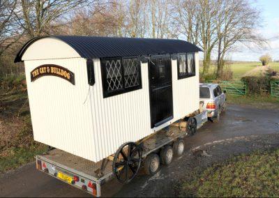 Pub shepherd hut
