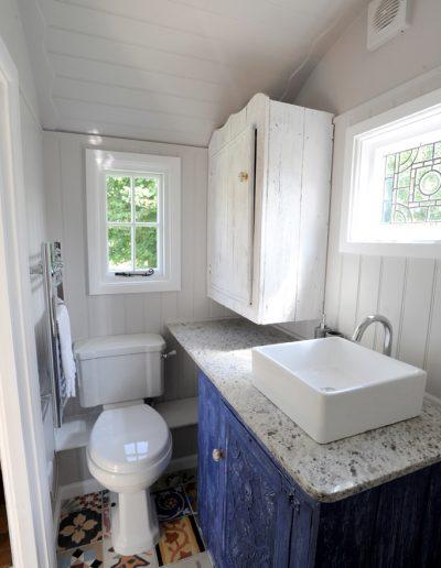 Roundhill Shepherd huts shower room Compton 9