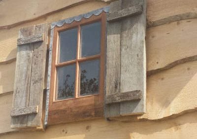 Rustic wooden shutters