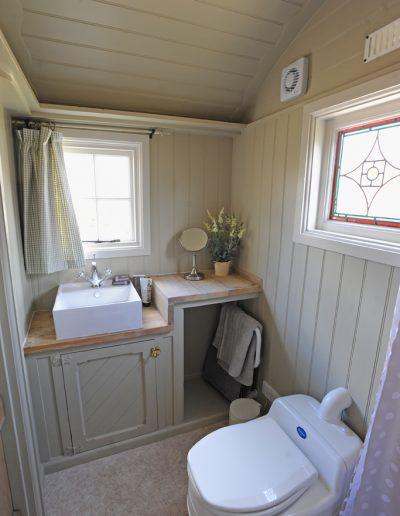 Scandinavian colour shower room