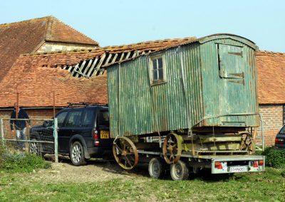 Shepherd hut restoration 3