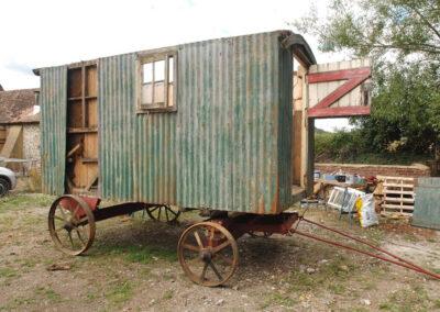 Shepherd hut restoration 6