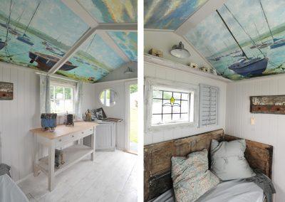 beach hut scandi style interior