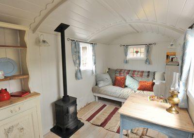 cosy shepherd hut